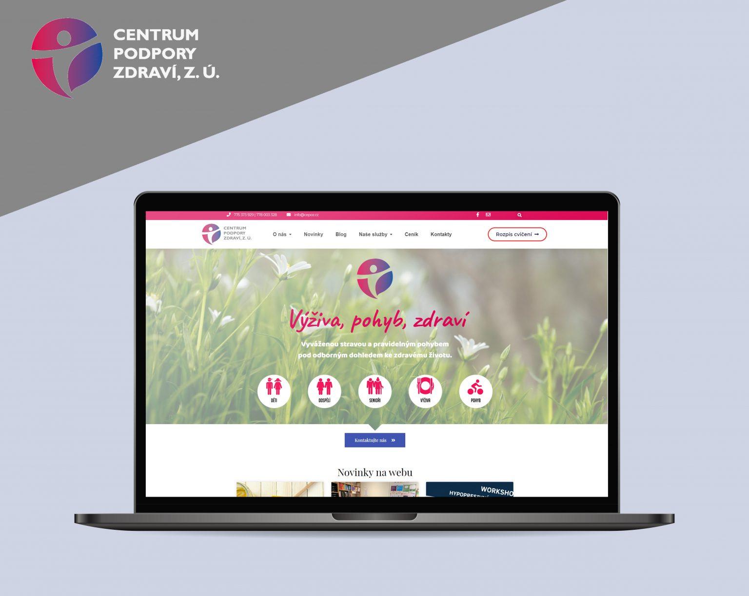 Webové stránky Centrum podpory zdraví