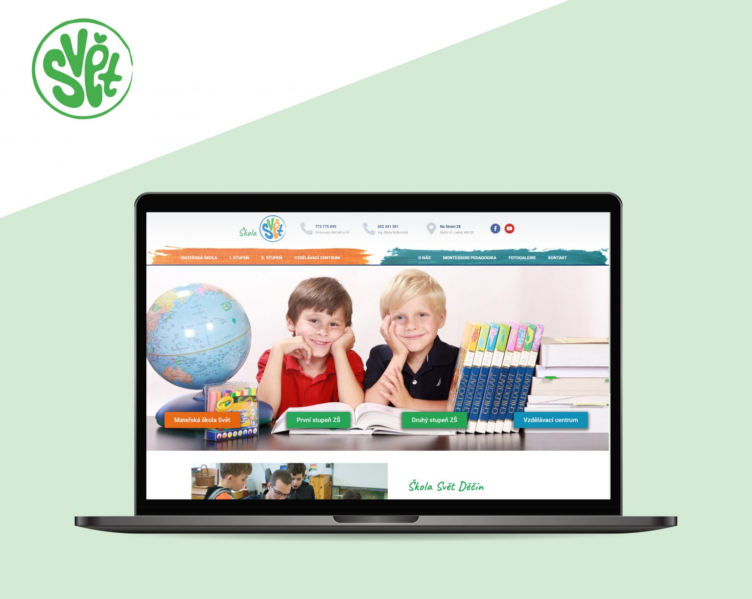 Webové stránky Škola Svět Děčín