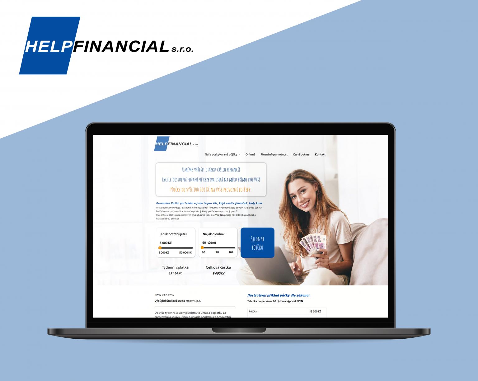 Webové stránky Help Financial